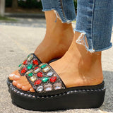 Remishoes Studded Platform Muffin Slippers