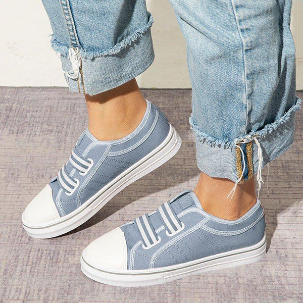 Remishoes Simple Canvas Slip On Casual Women Sneakers