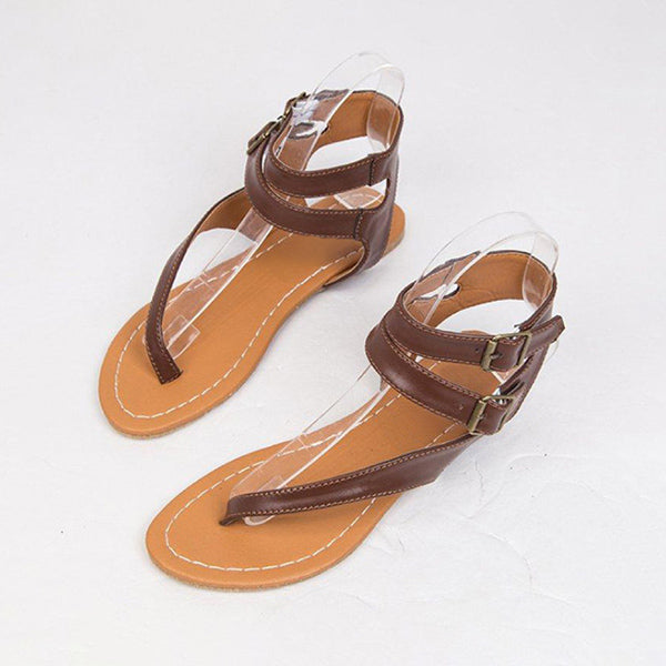 Remishoes Plain Flip-flops Buckle straps Casual Flat Sandals