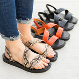 Remishoes Trendy Animal Print Slip-On Sandals