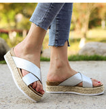 Remishoes Woman Outdoor Platform Soft Bottom Slippers