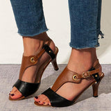 Remishoes Stiletto Heel Buckle Spring/fall Pu Casual Women Sandals