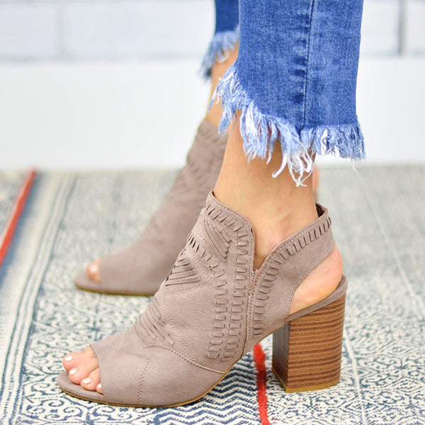 Remishoes Woven Detail Boho Booties