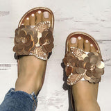Remishoes Sequins Embellished Non-Slip Flat Slippers