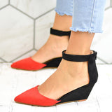 Remishoes Chic Ankle Strap Wedges Sandals