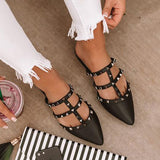Remishoes Candace Studded Flat Slippers