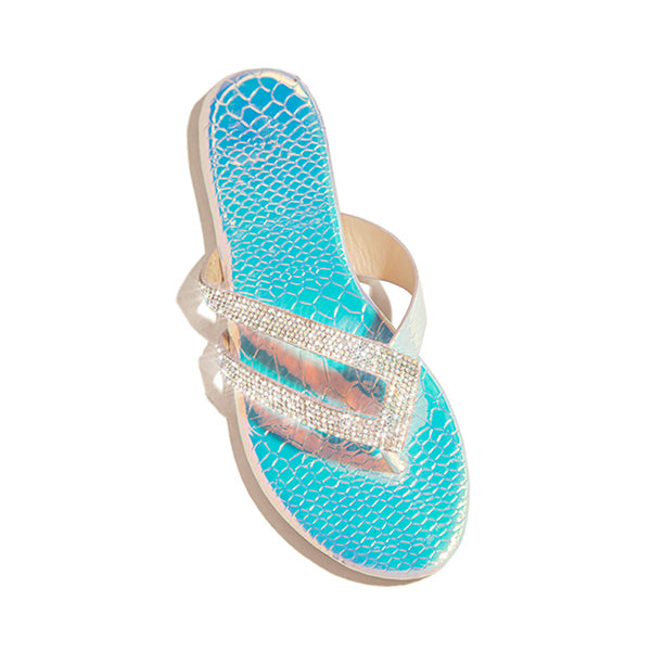 Remishoes Shiny Rainstone Casual Flip-flop Slippers