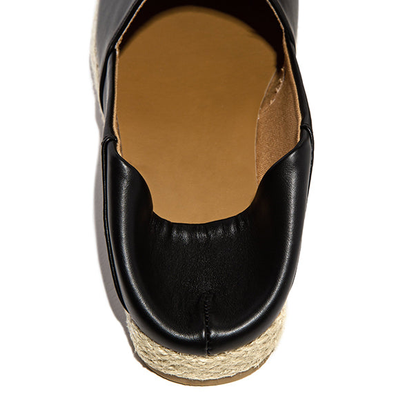 Remishoes Espadrille Detailing Folded Down Loafers