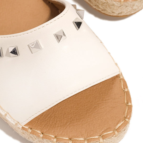 Remishoes Espadrille Detailing Geometrical Studs Sandals