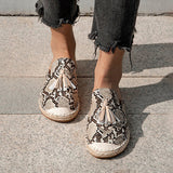 Remishoes Snakeskin Tassel Date Leather Summer Flat Slippers
