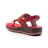 Remishoes Women Casual Summer Comfy Thong Slingback Wedge Sandals