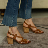 Remishoes Open Toe Women Chunky Heels