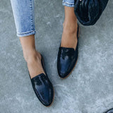 Remishoes Embossed Uppers Pointed Toe Slippers Loafers