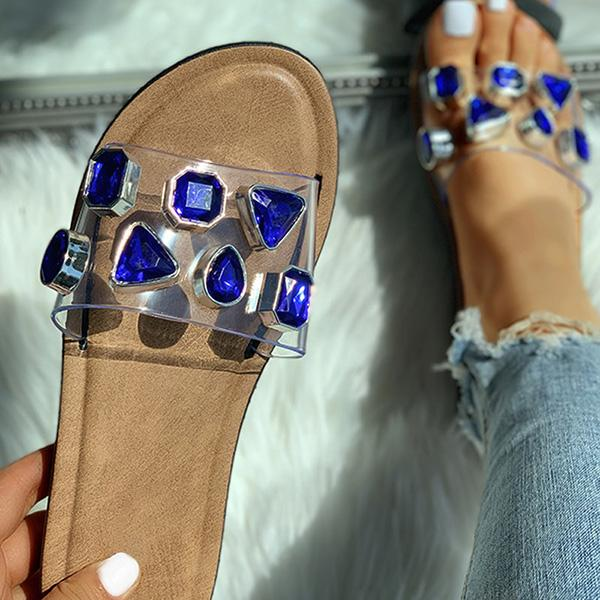 Remishoes Open Toe Studded Flat Slippers
