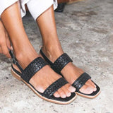 Remishoes Clue Leather Summer Low Heel Sandals