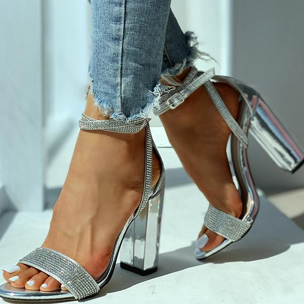 Remishoes Studded Strap Chunky Heeled Sandals