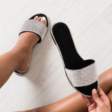 Remishoes Embellished Open Toe Slip On Sandals