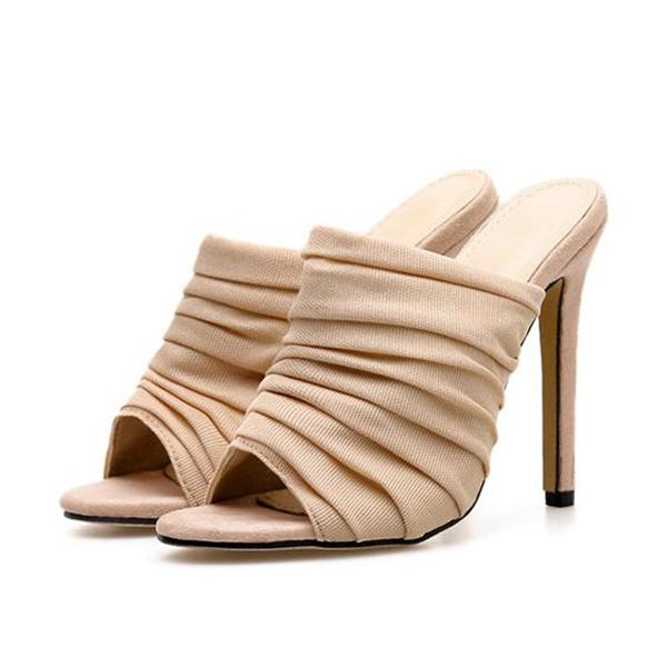 Remishoes Square Toe High Heel Sandals