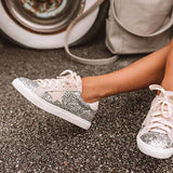 Remishoes Shine Brighter Cheetah Print Sneakers
