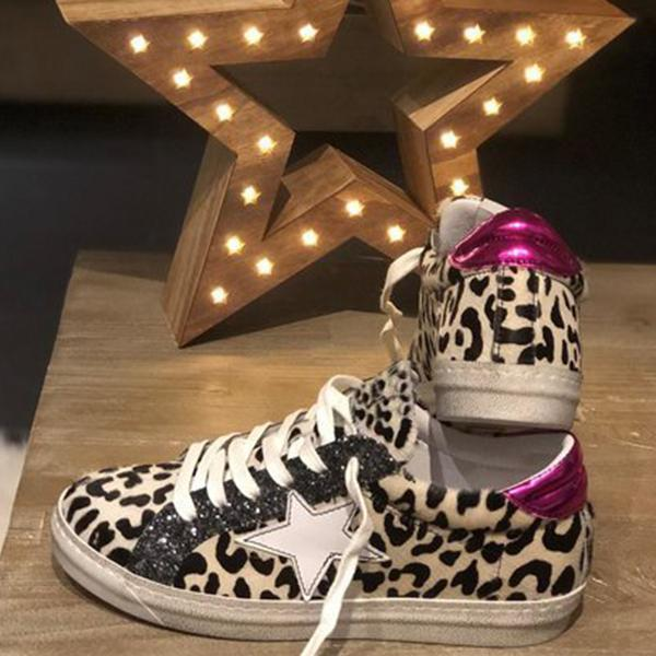 Remishoes Leopard All Season Daily Sneakers