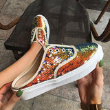 Remishoes Summer Slip-On Glitterlace Flat Sneakers