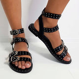 Remishoes Double Strap Studded Sandals