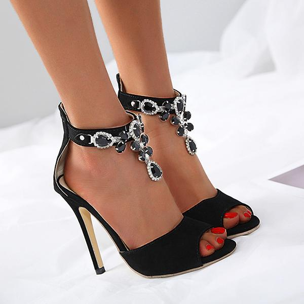 Remishoes Luxury Diamond High Heel Sandals