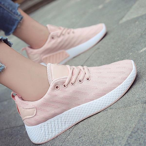 Remishoes Flat Heel Fabric Date Sneakers