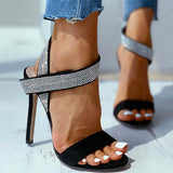 Remishoes Studded Thin Heeled Sandals