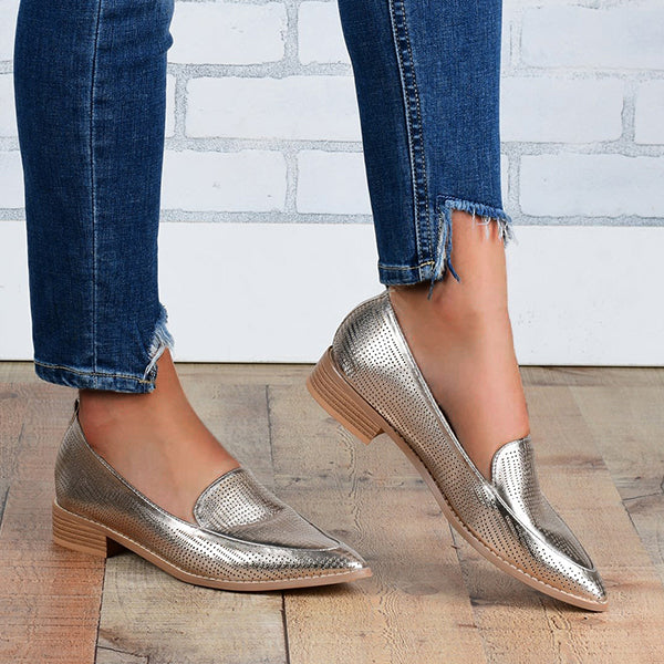 Remishoes Ultra Soft Metallic Flats Loafers