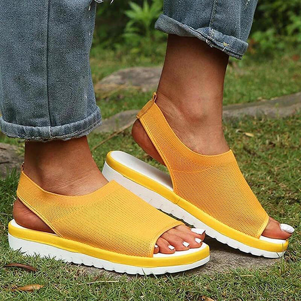 Remishoes Women Breathable Comfy Sandals Open Toe Slip On Beach Sandals