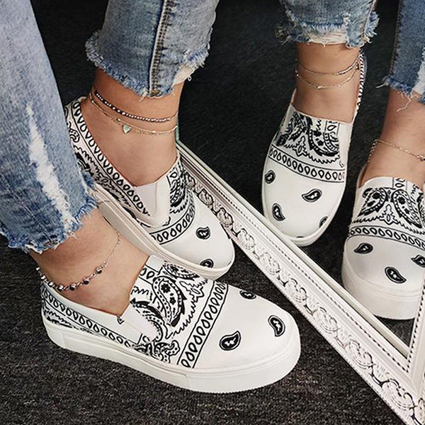 Remishoes Fashion Slip on Printed Loafers/Sneakers