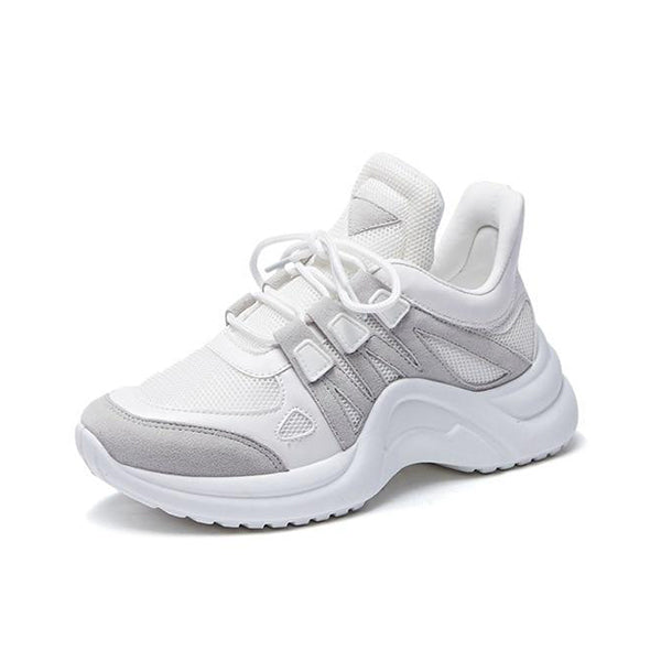 Remishoes Hot Fashion Women Breathable Mesh Platform Chunky Sneakers