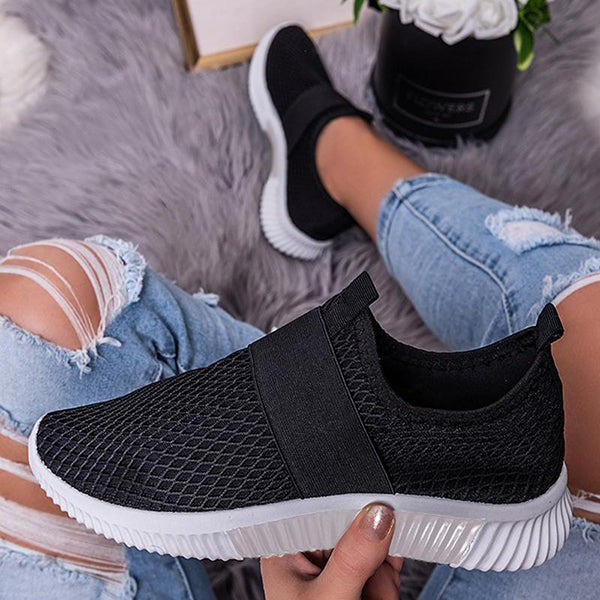 Remishoes Women Comfy Mesh Flat Slip on Loafers/Sneakers