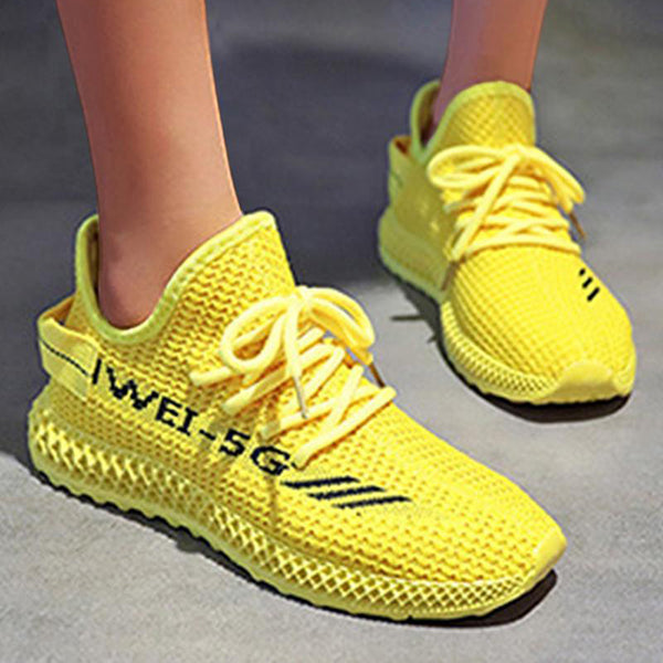 Remishoes Classic Yeezy Mesh Lace Up Sneakers