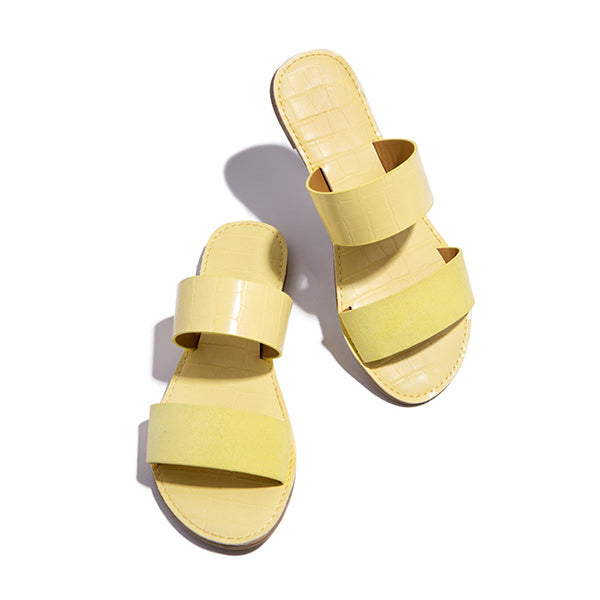 Remishoes Casual Flat Double Strap Slippers