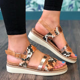 Remishoes Date Adjustable Buckle Artificial Leather Sandals