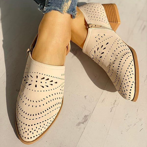 Remishoes Hollow Out PU Flats