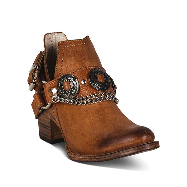 Remishoes Women's Vintage Round Ankle Boots