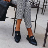 Remishoes Pointed Toe Metal Ring Loafers