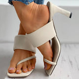 Remishoes Square Toe Post Heel Mule Sandals