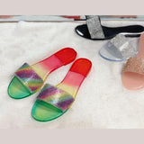 Remishoes Jelly Sequins Flat Sandals