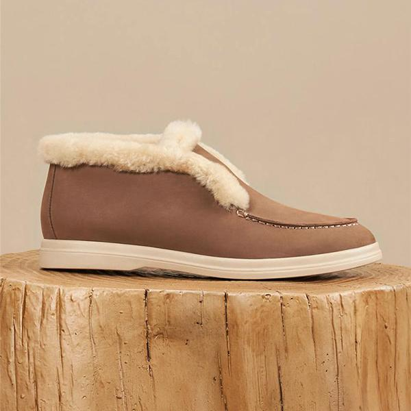 Remishoes Faux Sherpa Lined Slip On Sneakers