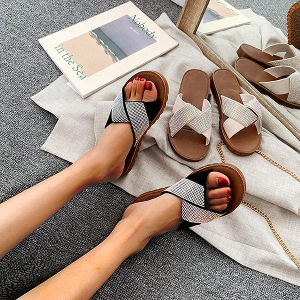 Remishoes Casual Summer Suede Open Toe Slippers