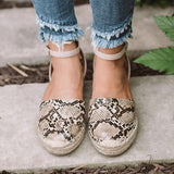 Remishoes Seaside Snake Print Platform Sandals