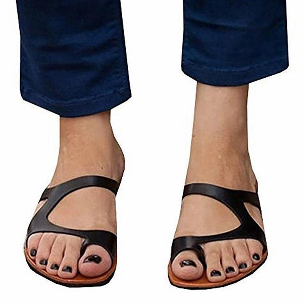 Remishoes Women Leather Slippers Casual Flip Flops Shoes