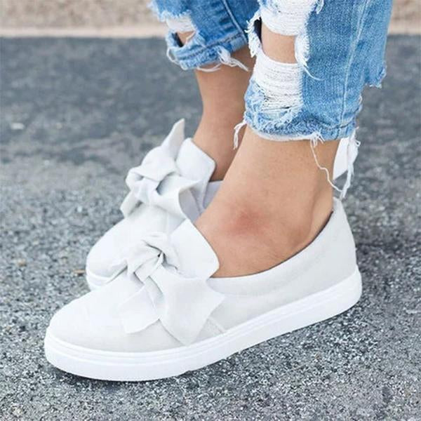 Remishoes Women Round Toe Casual Platform Shoes