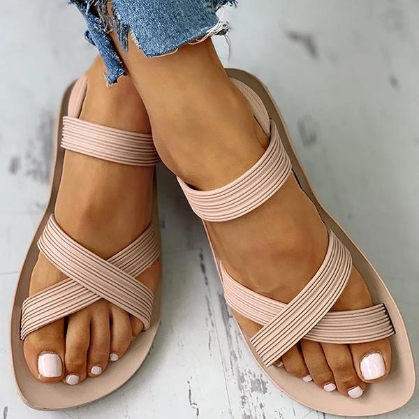 Remishoes Women Casual Summer Comfy Slip On Sandals