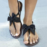 Remishoes New Arrival Satin Bowtie Flat Sandals