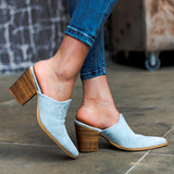 Remishoes Comfortable Faux Leather Muller Heels